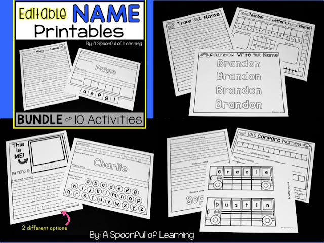 More Name Activities