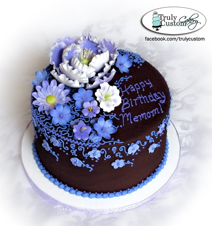 Birthday Cake With Buttercream Flowers Image Inspiration of Cake