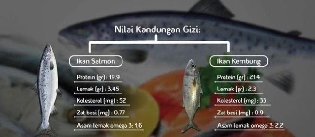 Nilai Gizi Ikan Air Tawar dan Air Laut Segar serta Manfaatnya