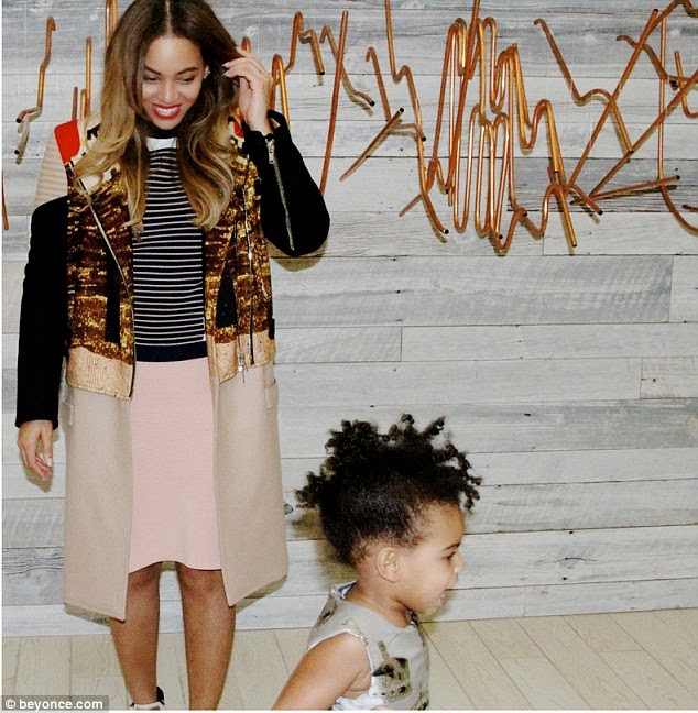 PhotoBomb Of The Year ; Blue Ivy Steals Attention At Beyonce's Photoshoot