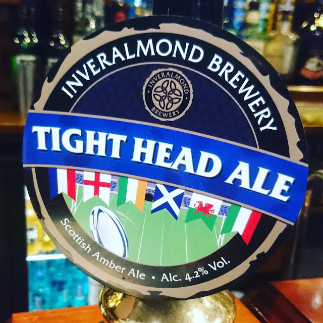 Perthshire Craft Beer Review: Tight Head Ale from Inveralmond Brewery real ale pump clip