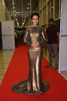 Actress Catherine Tresa in Golden Skin Tight Backless Gown at Gautam Nanda music launchi ~ Exclusive Celebrities Galleries 105.JPG
