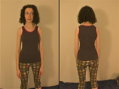 Demonstrating my new vest and leggings