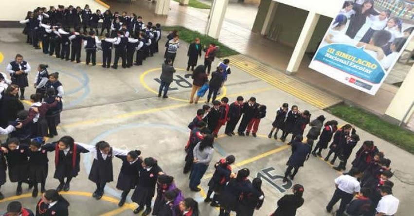 TERREMOTO DE MAGNITUD 8.5: Poderoso sismo afectó a más de 8 millones y medio de escolares de todo el país, en 3er Simulacro Nacional organizado por el MINEDU