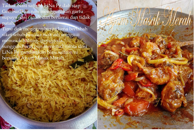 Nasi Saffron Ayam Masak Merah