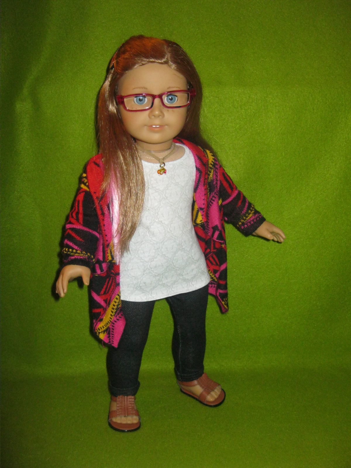 American Girl Doll Saige 2013 GOTY Sweater Outfit Sleeveless TOP only