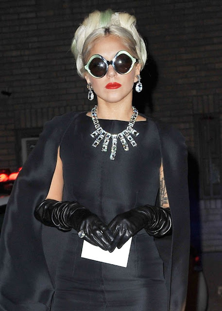 lady gaga all black outfit