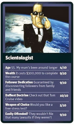 Funny World Religion Top Trumps Cards Scientology Image