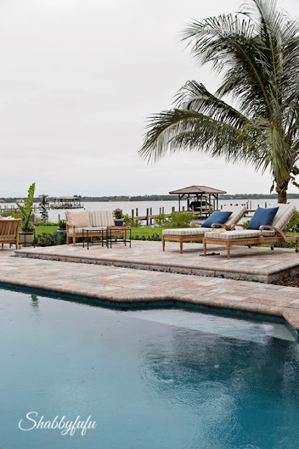 Back yard and pool area in the HGTV Dream Home 2016