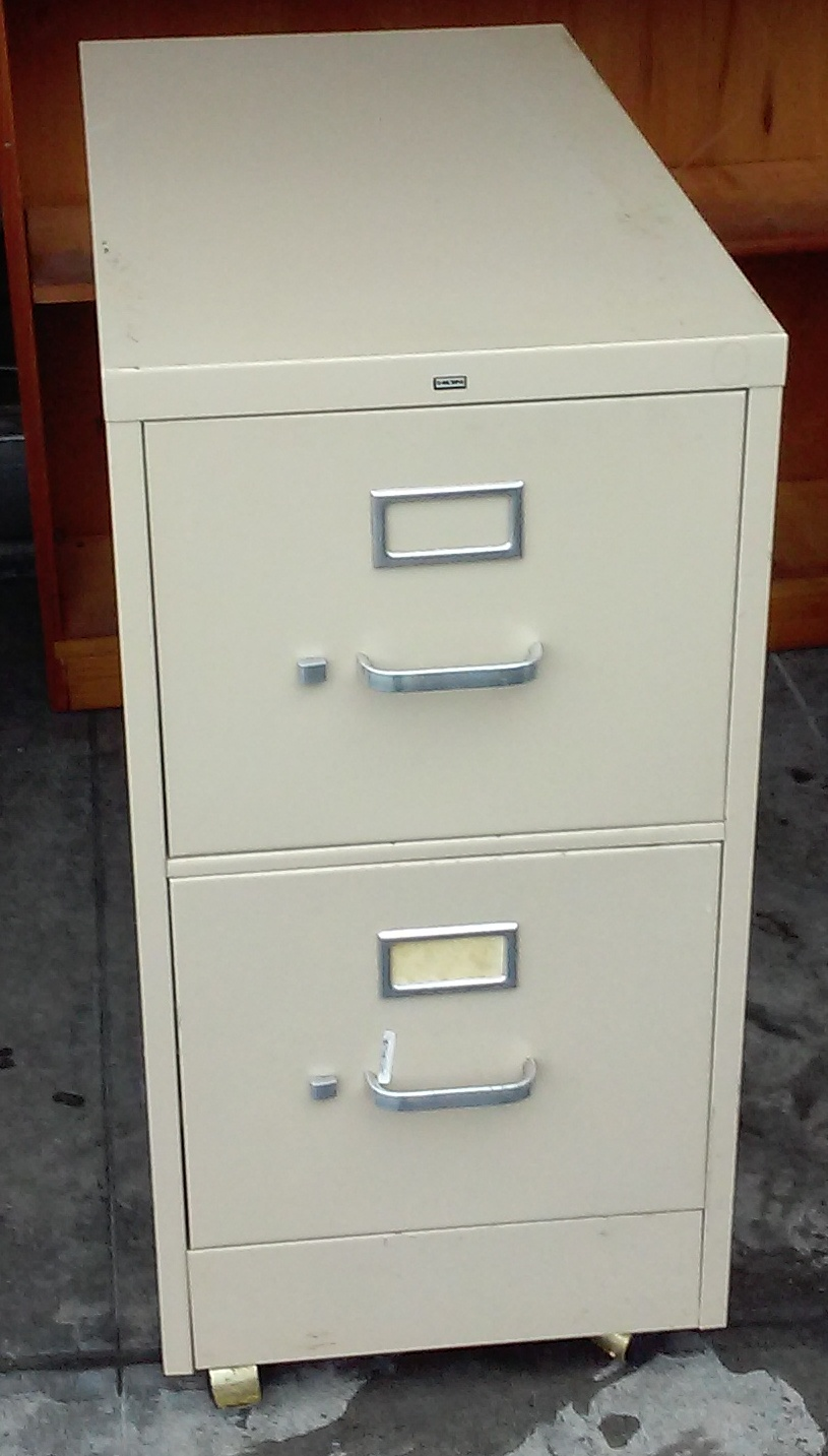UHURU FURNITURE & COLLECTIBLES: SOLD Hon 2-Drawer File ...