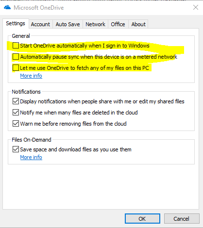 Cara disable OneDrive