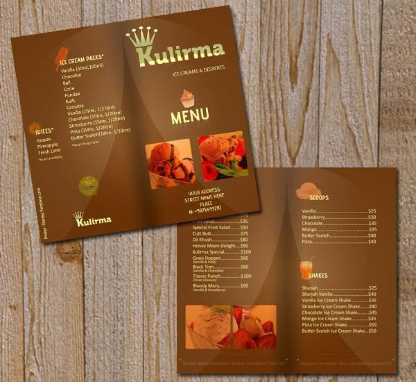 plantilla para crear menus de restaurantes gratis