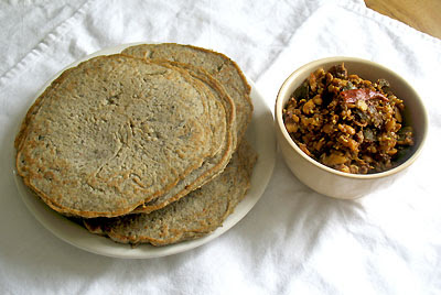 savory lentil Indian pancakes