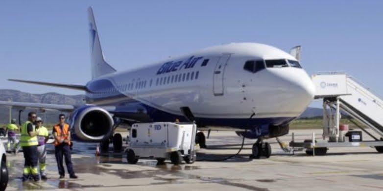 """Atterraggio d'emergenza per un Volo Blue Air con allarme di """"cabina depressurizzata"""""""