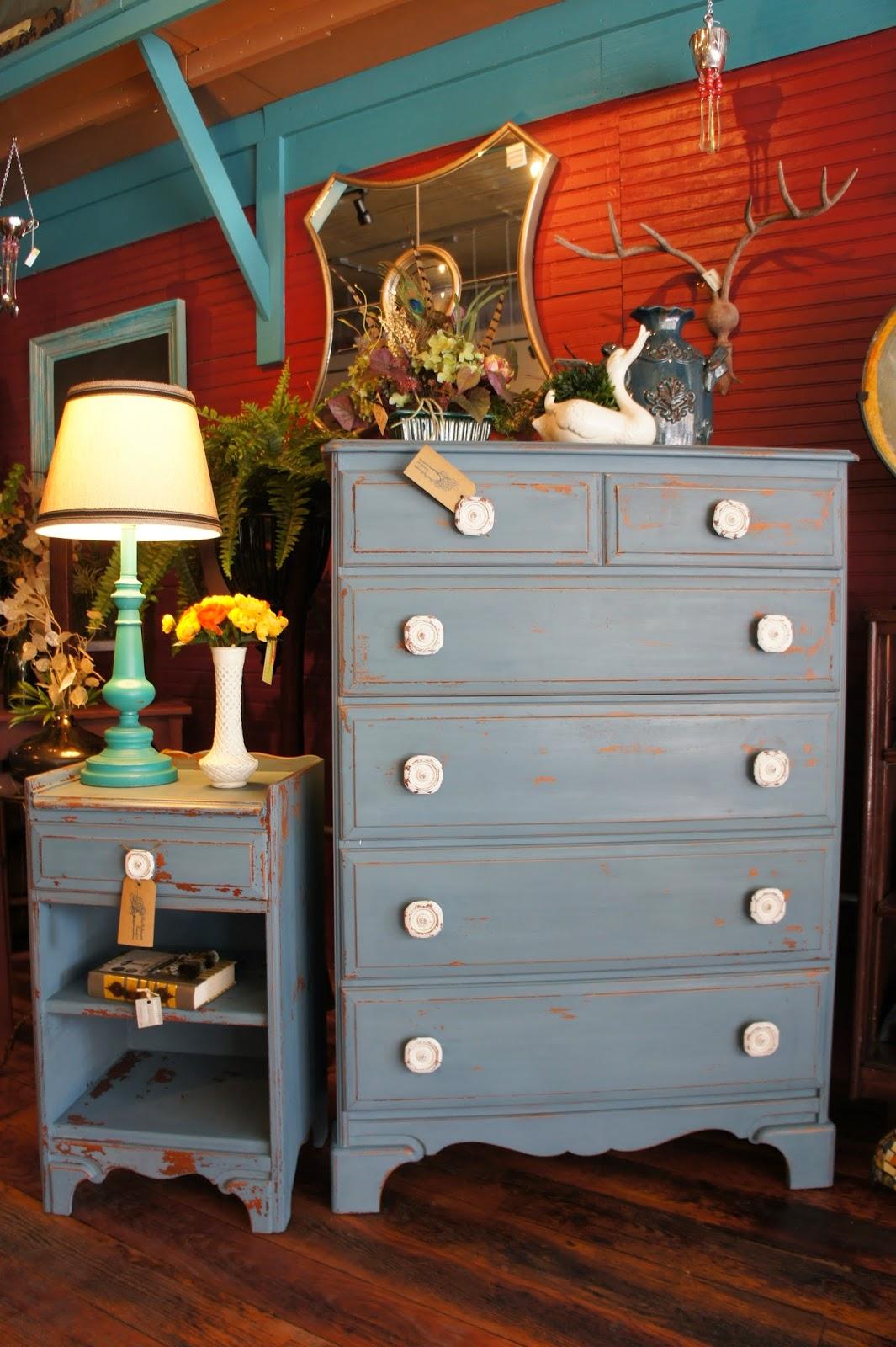 Blue Hydrangea Furniture Blue Gray Milk Paint Dresser