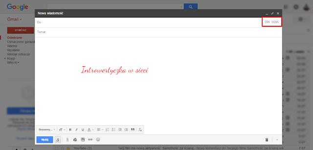 CC, DW, BCC, UDW - skrótowce mailowe