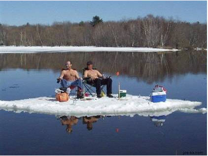homesteading ice fishing