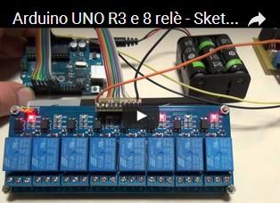 Arduino UNO R3 e 8 relè - Sketch di Natale col modulo HL-58S