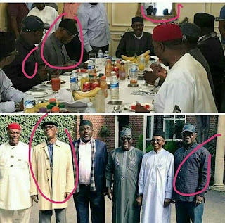 Buhari With APC governors in UK Photo Faulted