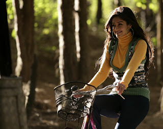 Ileana DCruz drive a bicycle