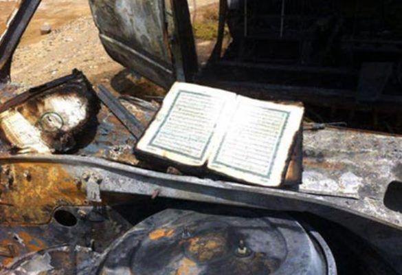 Al Qur'an Ini Tetap Utuh Meski Berada Dalam Mobil Yang Hangus Terbakar