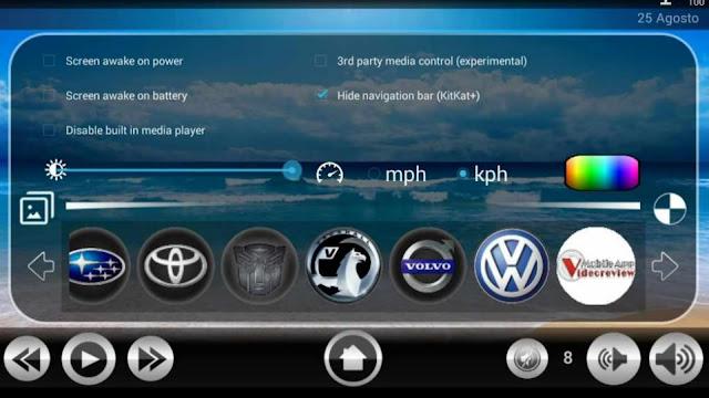 Digital Car - Applicazione - Aggiunta loghi e sfondi