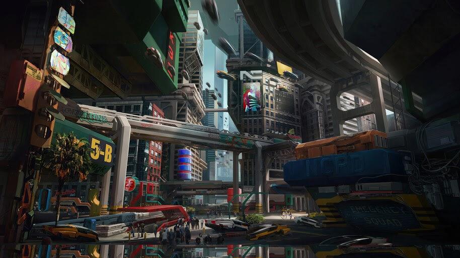 Cyberpunk 2077, City, Concept Art, 8K, #3.2263