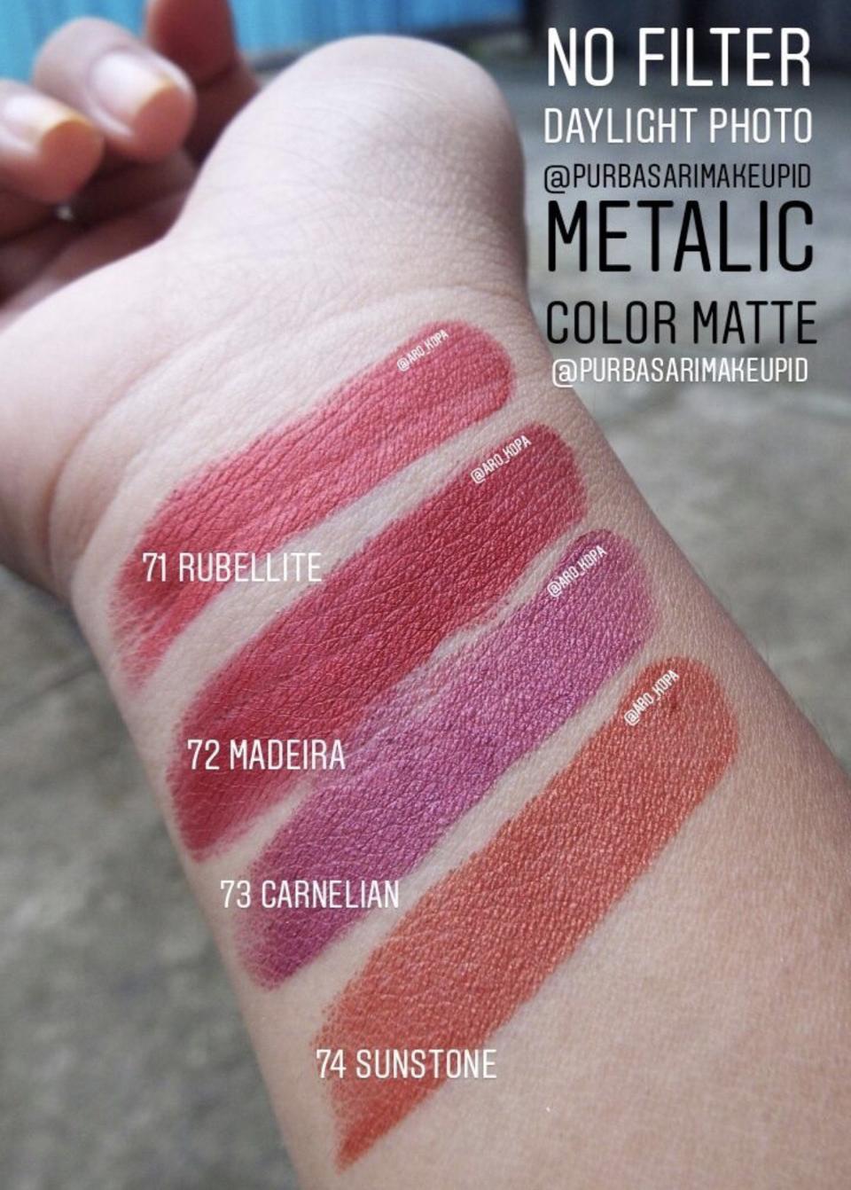 Tutuskirtjournal Review Purbasari Metallic Color Matte Lipstick Lipstik Collor Setelah