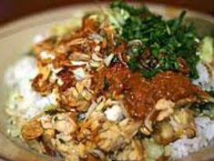 Resep masakan indonesia nasi lengko spesial (istimewa) khas Cirebon paraktis mudah enak, gurih, sedap, nikmat lezat