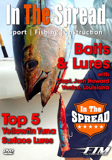 in the spread yellowfin tuna surface lures poppers