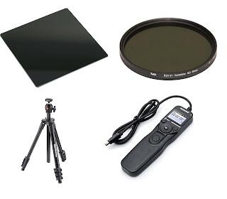 Alat tambahan yang digunakan untuk memotret long exposure