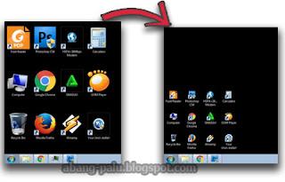 mengecilkan shortcut windows 7