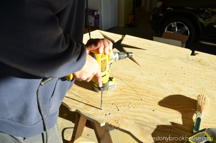 Using a drill to help cut corners