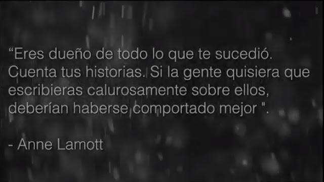 """Anne Lamott: """"Eres dueño de todo lo que te sucedió. Cuenta tus historias. Si la gente quisiera que escribieras calurosamente sobre ellos, deberían haberse comportado mejor"""". #Katecon2006"""