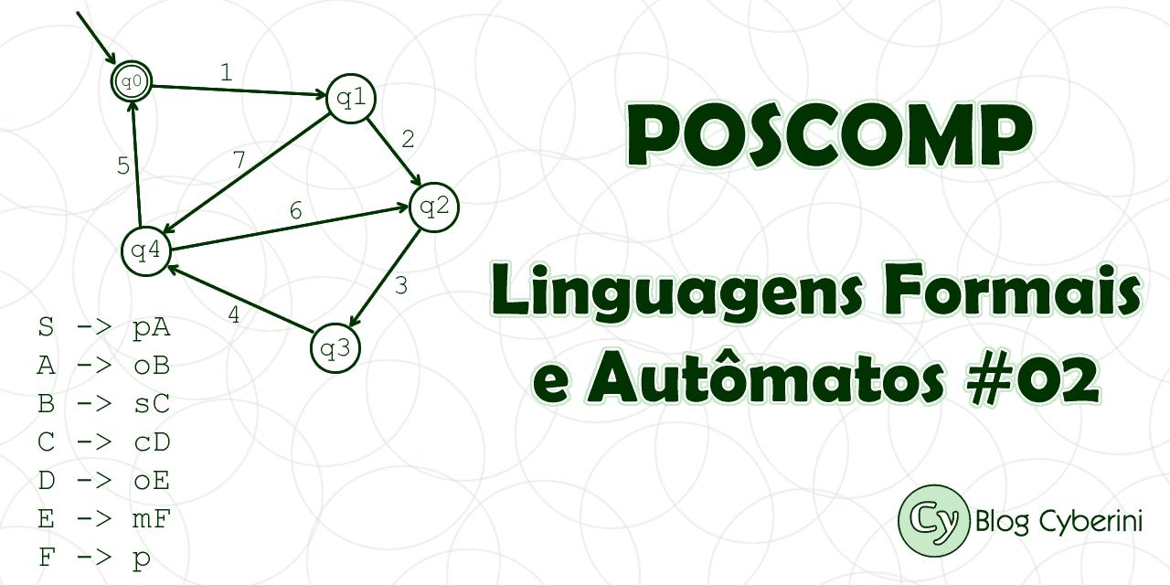 POSCOMP linguagens formais de autômatos