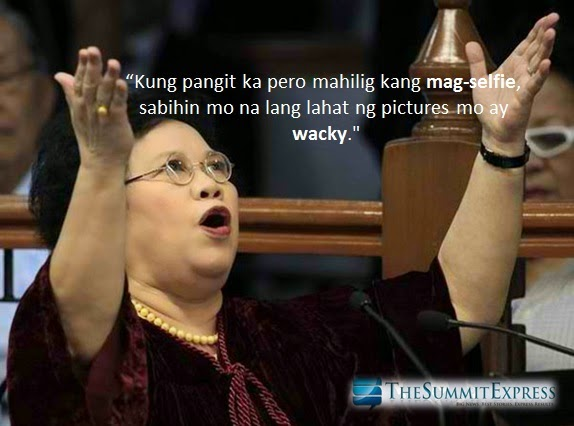 Miriam Santiago on selfie joke