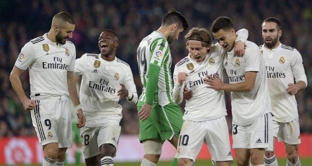 نهاية ماساوية لنادي الاسباني ريال مدريد في مباراة مع بتيس