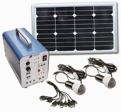 انظمة محمولة للإنارة بالطاقة الشمسية