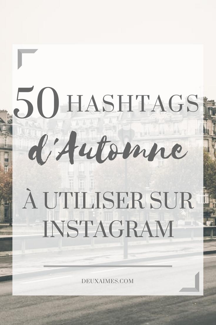 Automne: Ma sélection de 50 hashtags Instagram gratuits @deuxaimes