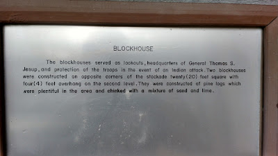 fort christmas historical park blockhouse plaque