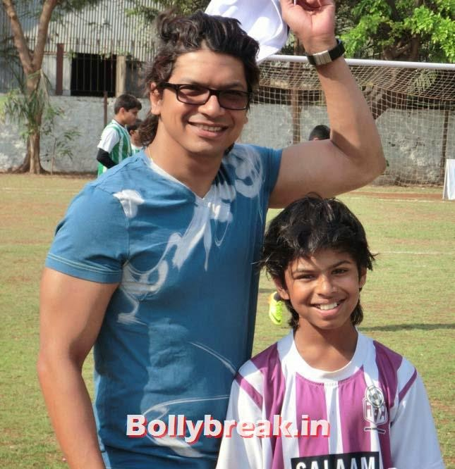Shaan, Raveena Tandon at Junior Football Championship League 2014