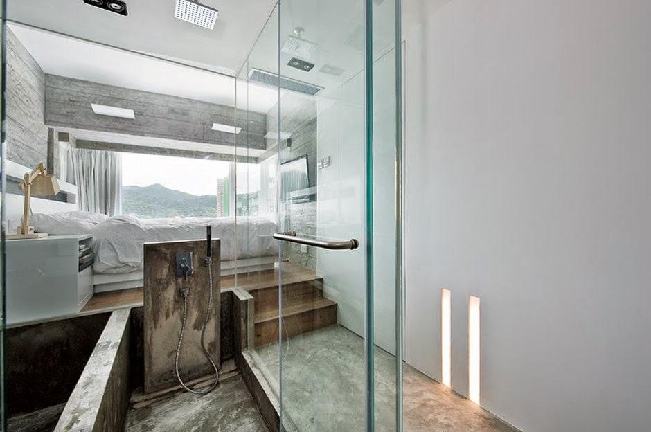 Interior de una casa moderna en gris - Casas bien decoradas ...