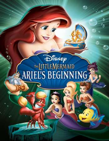 Poster Of The Little Mermaid Ariels Beginning 2008 Hindi Dual Audio 250MB BRRip 576p ESubs Free Download Watch Online downloadhub.net
