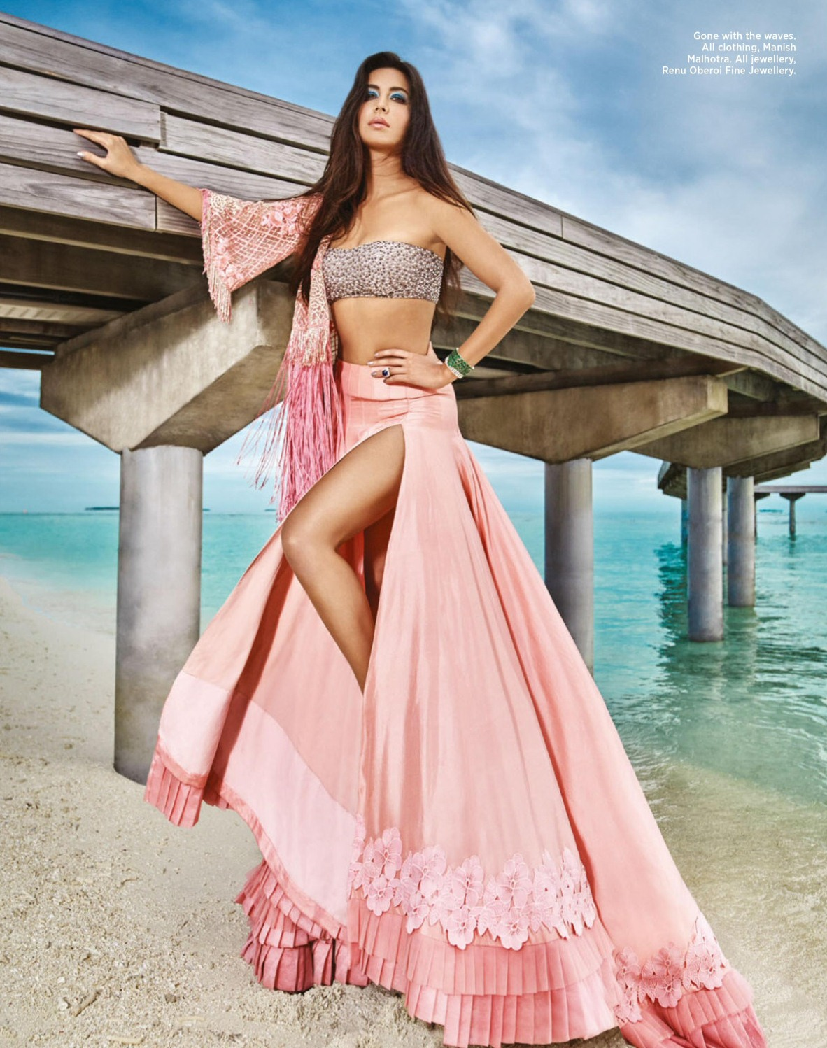 Katrina 4 - Katrina Kaif Leg Split Gown and Choli Sizzling ...