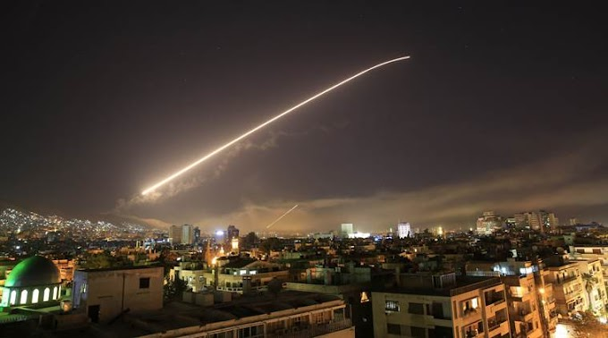 U.S., Britain, France launch air strikes in Syria