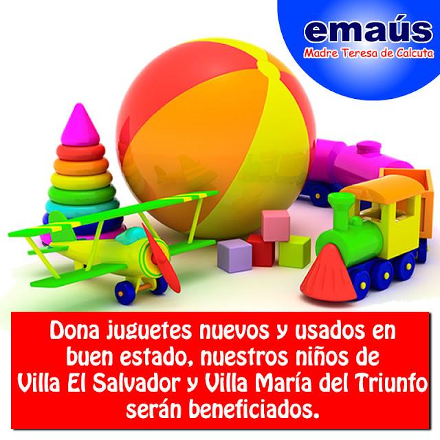 Donación de juguetes nuevos y usados