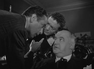 Humphrey Bogart (Sam Spade), Peter Lorre (Joel Cairo) and Sidney Greenstreet (Kasper Gutman) in The Maltese Falcon, Directed by John Huston, 1941 film noir
