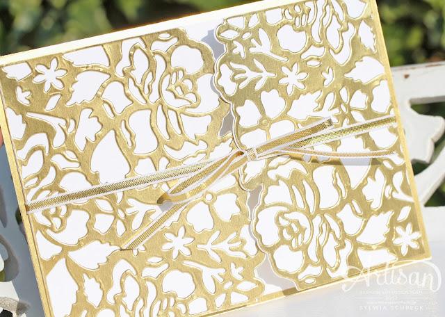 Karte zur Goldenen Hochzeit-Stampin up-Florale Fantasie
