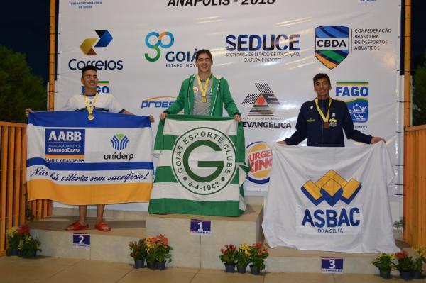 Natação do Goiás vai bem no Centro-Oeste da modalidade