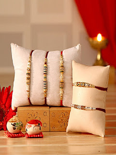 Indian Gifts Portal  Offer Buy Traditional Set of Five Rakhi at Rs. 725